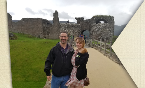 Me and Kayla, my oldest daughter, in Scotland, June 2019.